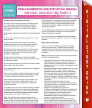 DSM-5 Diagnostic and Statistical Manual (Mental Disorders) Part 2 - (Speedy Study Guides) ebook by Speedy Publishing