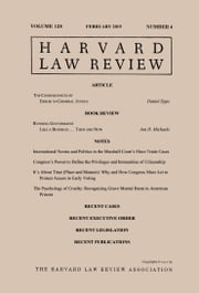 Harvard Law Review: Volume 128, Number 4 - February 2015 ebook by Harvard Law Review