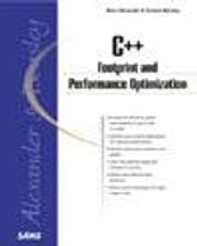 C++ Footprint and Performance Optimization ebook by Alexander, Rene