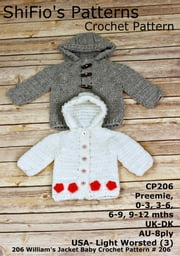206- William's Hooded Jacket Crochet Pattern USA #206 ebook by ShiFio's Patterns