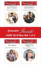 Harlequin Presents June 2018 - Box Set 1 of 2 - Da Rocha's Convenient Heir\Blackmailed by the Greek's Vows\A Diamond Deal with Her Boss\Claiming His Pregnant Innocent ekitaplar by Cathy Williams, Tara Pammi, Maggie Cox,...