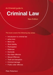 Criminal Law ebook by Peter Robertson