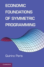 Economic Foundations of Symmetric Programming ebook by Quirino Paris