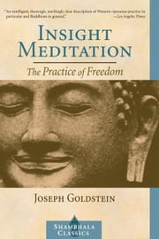 Insight Meditation: The Practice of Freedom ebook by Joseph Goldstein