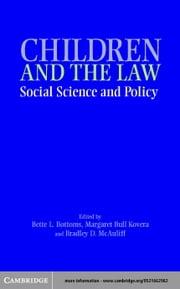 Children, Social Science, and the Law ebook by Bottoms, Bette L.