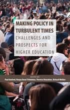 Making Policy in Turbulent Times - Challenges and Prospects for Higher Education ebook by Paul Axelrod, Roopa Desai Trilokekar, Theresa Shanahan,...