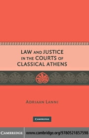 Law and Justice in the Courts of Classical Athens ebook by Lanni, Adriaan