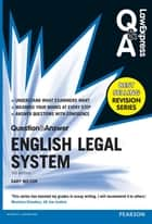 Law Express Question and Answer: English Legal System(Q&A revision guide) ebook by Dr Gary Wilson