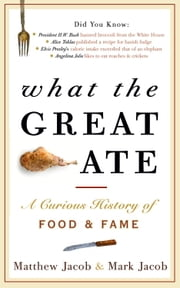What the Great Ate - A Curious History of Food and Fame ebook by Matthew Jacob,Mark Jacob