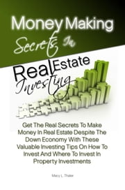 Money Making Secrets In Real Estate Investing - Get The Real Secrets To Make Money In Real Estate Despite The Down Economy With These Valuable Investing Tips On How To Invest And Where To Invest In Property Investments ebook by Macy L. Thaler