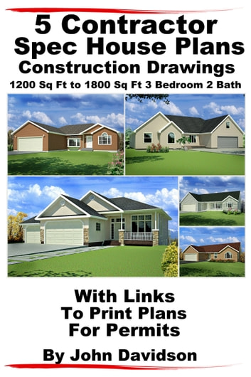 5 contractor spec house plans blueprints construction for Spec home plans