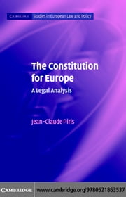 The Constitution for Europe ebook by Piris, Jean-Claude