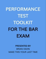 Performance Test Toolkit (for the Bar Exam) ebook by Kobo.Web.Store.Products.Fields.ContributorFieldViewModel