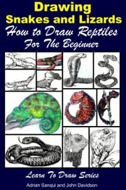 Drawing Snakes and Lizards: How to Draw Reptiles For the Beginner ebook by Adrian Sanqui,John Davidson