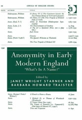 Anonymity in Early Modern England - 'What's In A Name?' ebook by