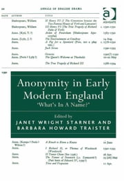 Anonymity in Early Modern England - 'What's In A Name?' ebook by Professor Barbara Howard Traister,Dr Janet Wright Starner