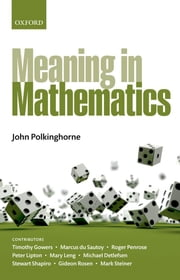 Meaning in Mathematics ebook by John Polkinghorne