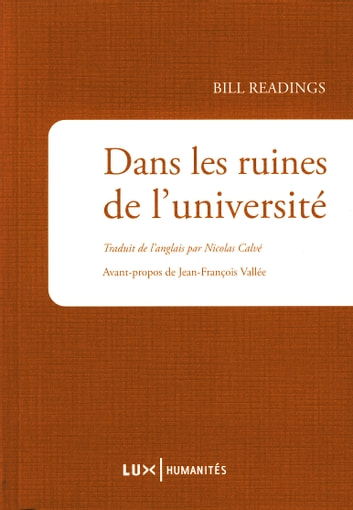 Dans les ruines de l'université ebook by Bill Readings