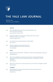 Yale Law Journal: Volume 124, Number 5 - March 2015 ebook by Yale Law Journal