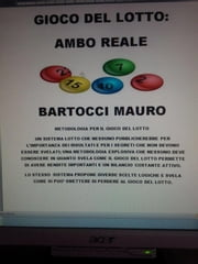 Gioco del lotto:AMBO REALE ebook by Bartocci Mauro